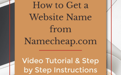 How to Get a Website Name from Namecheap.com